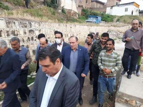 بازدید اعضای شورای اسلامی شهر گرگان از محله ایرانمهر