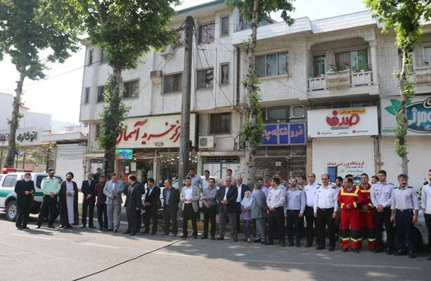 همزمان با روز قدس پرچم کشور فلسطین در لاهیجان به اهتزاز درآمد