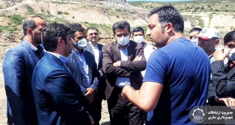 بازدید نماینده ساری و میاندورود در مجلس شورای اسلامی از محل دفن زباله ساری