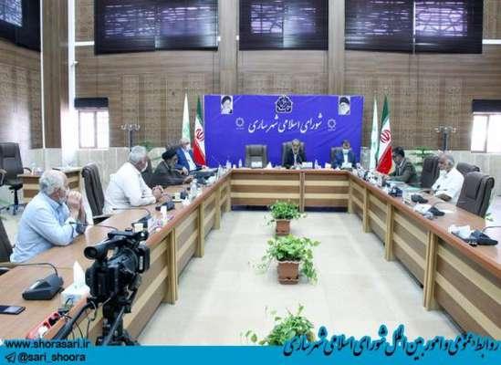 جلسه هیأت رئیسه شورای اسلامی شهر ساری با حضور هیأت امنای آستانه امامزاده عباس (ع)