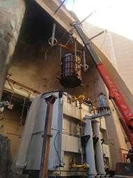برقدار کردن ترانس قدرت واحد شماره 1 نیروگاه دز
