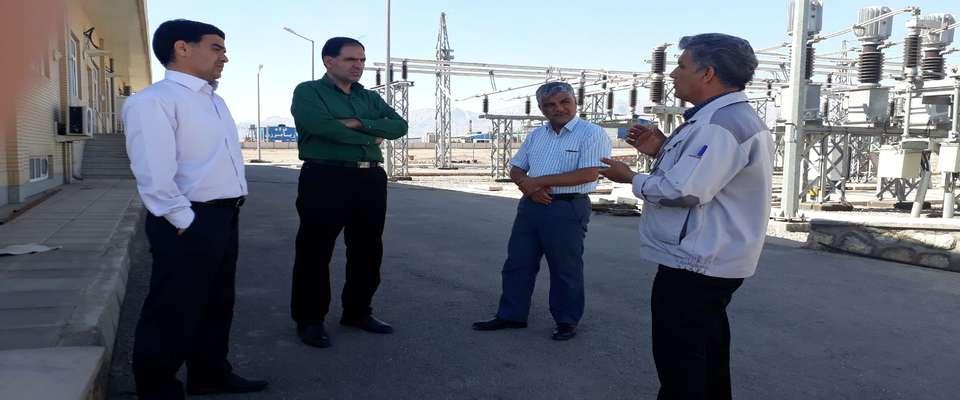 بازدید مدیرعامل برق منطقهای یزد از پروژه توسعه پست خضرآباد