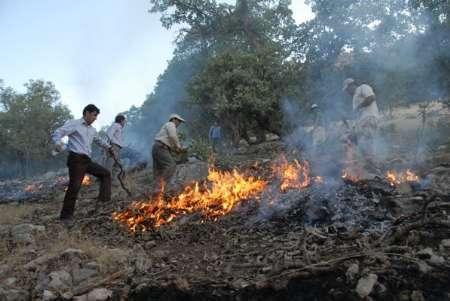 اعزام اکیپهای مهار آتش در جنگل خسرج
