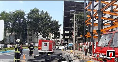 مرگ کارگر جوان بر اثر سقوط مصالح ساختمانی در گلسار رشت/ آتش نشانی رشت