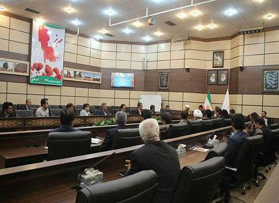 جلسه کمیته برنامه ریزی شهرستان در محل فرمانداری مهریز