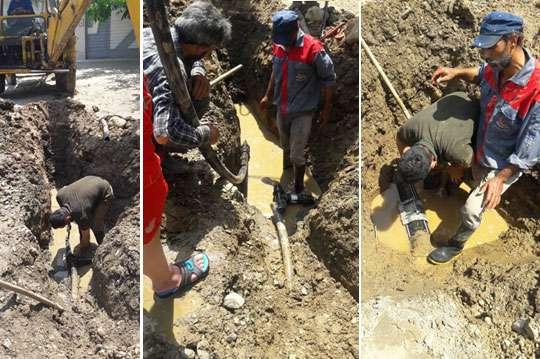 آب شرب روستاي كاس احمدان فومن  با رفع 2 فقره شكستگي به مدار بهره برداری بازگشت
