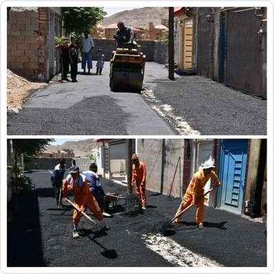 زیرسازی و آسفالت انتهای خیابان شهاب 10