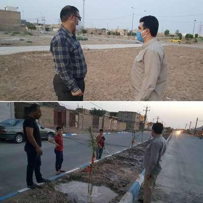 بازدید میدانی شهردار خرمشهر از آخرین وضعیت پارک ها و فضاهای سبز سطح شهر