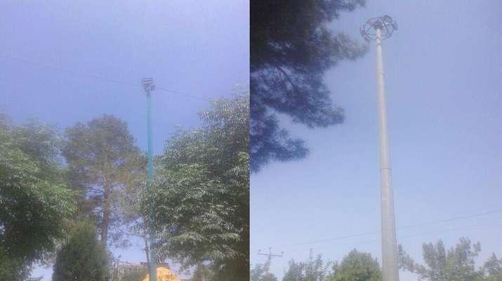 سیستم روشنائی دو بوستان سقاخانه و هفت تیر به انجام رسید .