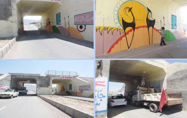 شهردار زرند از عملیات زیبا سازی پل پارسیان خبر داد .