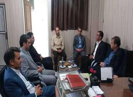 دیدار شهردار، رئیس و اعضای شورای اسلامی شهر مهریز با رئیس پلیس امنیت شهرستان مهریز