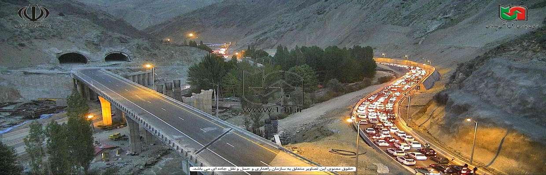 وضعیت تردد در برخی محورهای برون شهری/ آزادراه تهران_شمال پر حجم + تصاویر