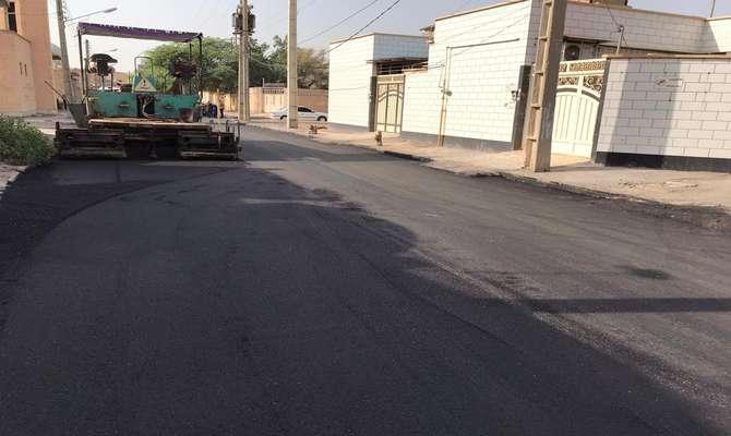 آسفالت خیابان کهنمویی در مجاورت میدان دروازه توسط شهرداری خرمشهر