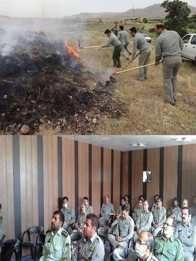 برگزاری مانور اطفاء حریق در منطقه حفاظت شده باشگل تاکستان