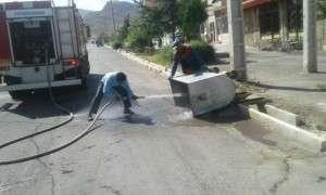 شستشوی سطلهای زباله مکانیزه سطح شهر