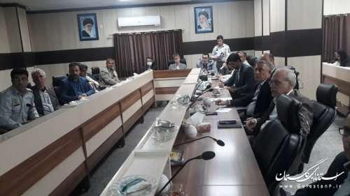 برگزاری جلسه کارگروه اطفای حریق استان