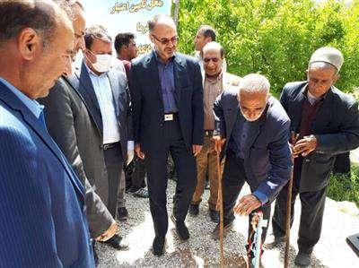 """بهره برداری از پروژه آبرسانی به روستای """"دره بید"""" بخش لوداب"""