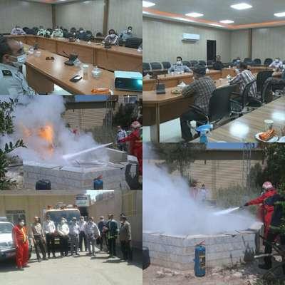 کارگاه آموزشی اطفاء حریق در سالن بخشداری برای یگان حفاظت منابع طبیعی