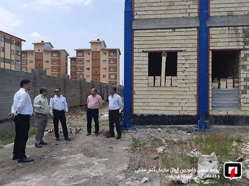 بازدید سرپرست سازمان آتش نشانی و هیئت همراه از روند احداث ساختمان اصلی ایستگاه آتش نشانی در مسکن مهر رشت / به روایت تصویر