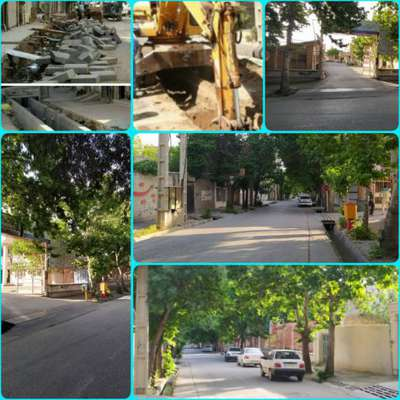 اجرای عملیات جدول گذاری و اصلاح آبرو خیابان شهید عسگری (پونه زار)