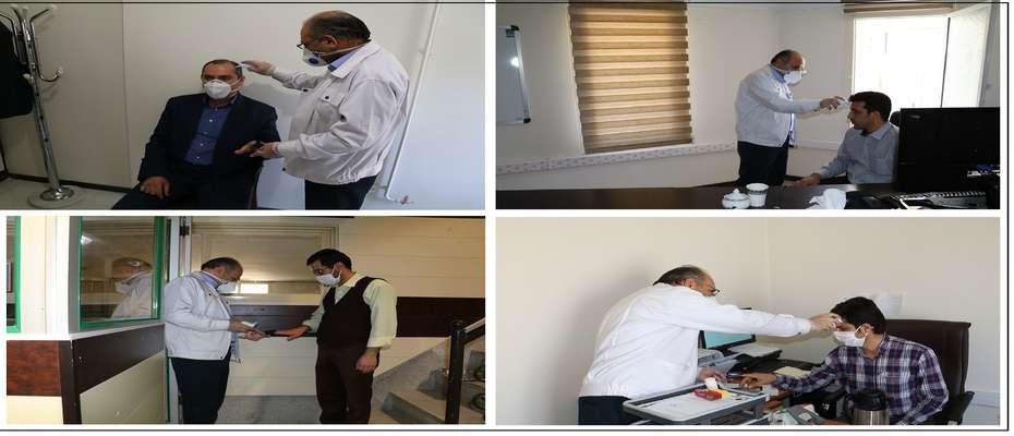 پایش کارکنان شرکت تولید نیروی برق شهید مفتح به صورت روزانه