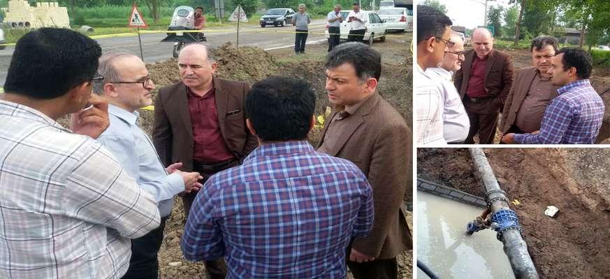 بازدید مدیرعامل شرکت آب و فاضلاب استان گیلان از پروژه خط انتقال آب سنگر به کوچصفهان