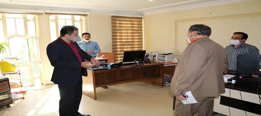 بازدید سرزده مدیر عامل محترم از محل کار کارکنان شرکت