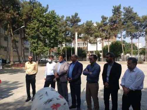 بازدید اعضای شورای اسلامی شهر از نواحی خدمات شهری منطقه دو