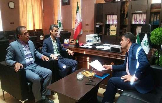 دیدار رئیس اداره امور مالیاتی شهرستان با شهردار باغ شهر تاریخی مهریز