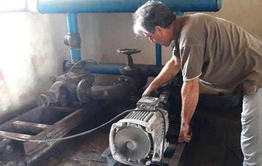 رفع مشکل افت فشار و قطعی آب شرب 750 مشترک روستایی فومن