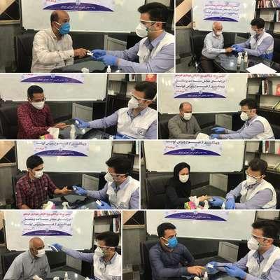 دومین مرحله غربالگری کرونا ویژه کارکنان شهرداری خرمشهر در راستای سنجش سلامت پرسنل