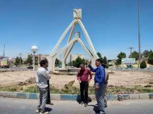 بازدید شهردار تفرش از میدان طبرسی