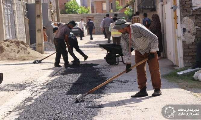 بهسازی و آسفالت خیابان شهید فهمیده