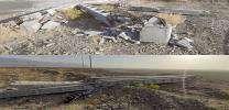 خسارت در شبكه برق فشار قوي منطقه نيكشهر و تاسيسات 63 كيلوولت قصرقند بر اثر طوفان و بارندگي شديد