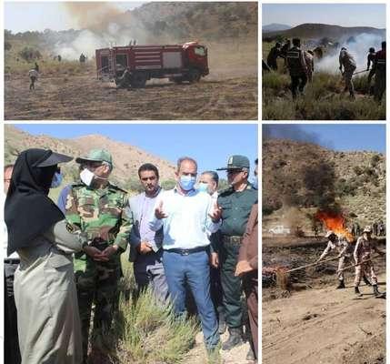 مانور اطفای حریق در شهرستان خاتم- یزد برگزار شد