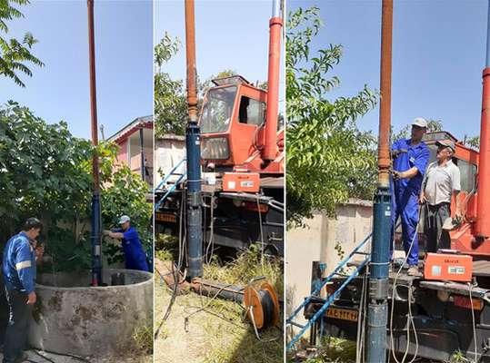 ر فع مشکل افت فشار 950 فقره اشتراک منطقه ماکلوان شهرستان  فومن