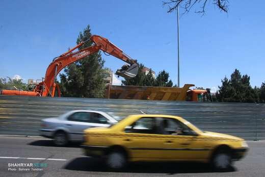 اجرای پروژه تقاطع غیر همسطح ارتش