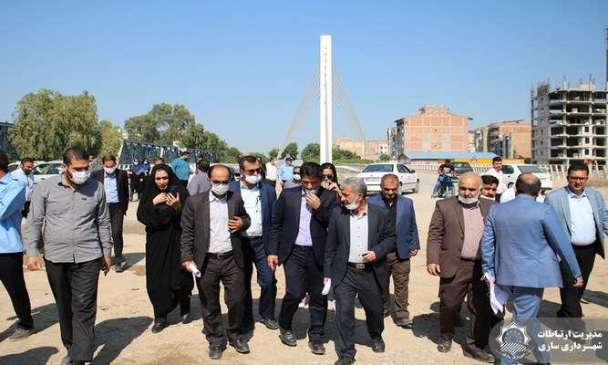 بازدید خبرنگاران شهر ساری از پروژه پل تا پل