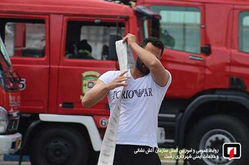 گزارش تصویری دوره آموزشی نیروهای جدیدالورود سازمان آتش نشانی رشت/ 6 تیر 99