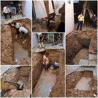 شکستگی شبکه توزیع آب در زیر منازل مسکونی شوش مهار شد