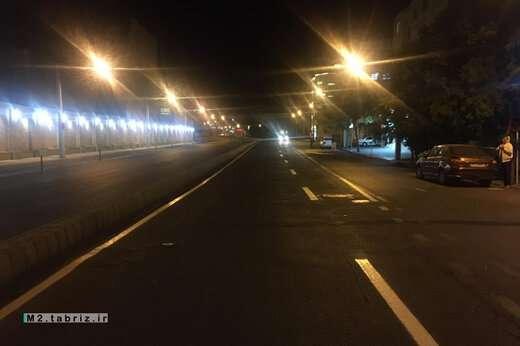 انجام خط کشی محوری در خیابان عطار نیشابوری