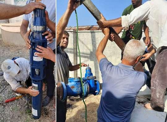 تعویض پمپ شناور آب تاسیسات سیاوزان بندرانزلی