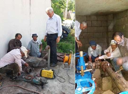 رفع مشکل خطوط آبرسانی شهر ماکلوان فومن