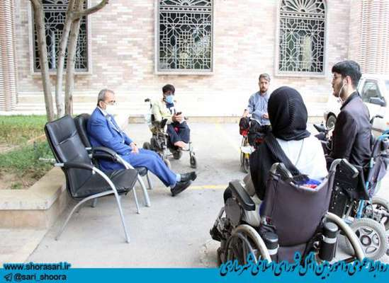 ديدار معلولان با رئيس شوراي اسلامي شهر ساري