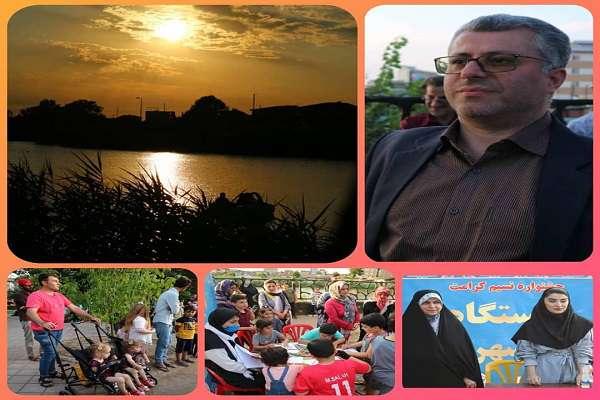 اجرای نهمین   برنامه جشنواره نسیم کرامت که به همت سازمان فرهنگی اجتماعی و ورزشی در پارک دانشجو برگزار شد