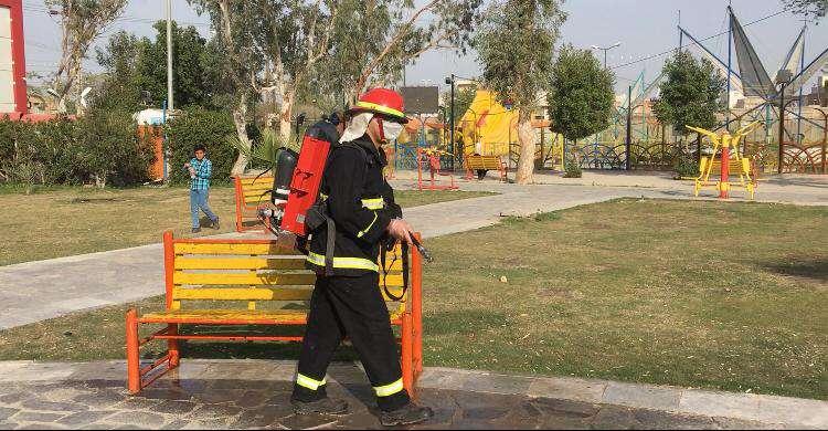 شهردار خرمشهر از یکصد و دهمین مرحله از عملیات ضدعفونی فضاهای شهری و مدارس خبر داد