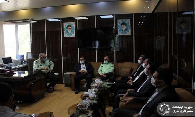 همگامی شهرداری ساری و نیروی انتظامی برای خدمت رسانی بهتر به شهروندان