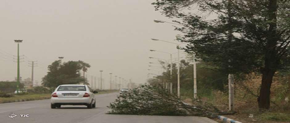 باد شدید و خیزش گرد و خاک در ۸ استان کشور