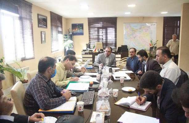 جلسه هماهنگی طرح اقدام ملی مسکن  با حضور مدیرکل راه و شهرسازی