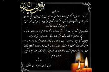 پیام تسلیت ریاست سازمان به مناسبت درگذشت مرحوم مهندس عزت الله فیلی